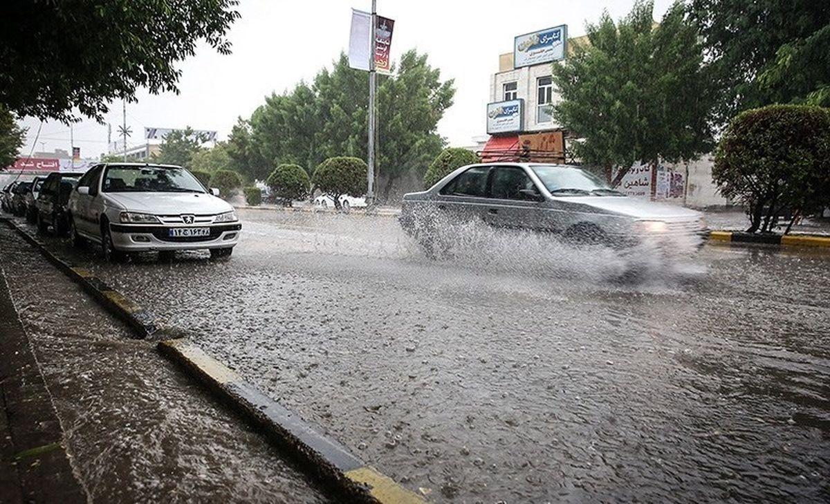 بارش شدید باران در ۵ استان
