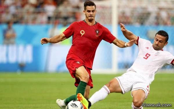 امید ابراهیمی در بازی با پرتغال