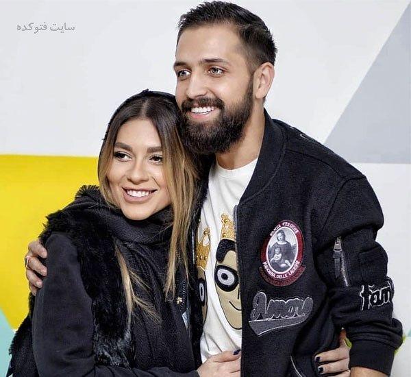 عکس جنجالی و لورفته محسن افشانی و همسرش در استخر خصوصی! + عکس