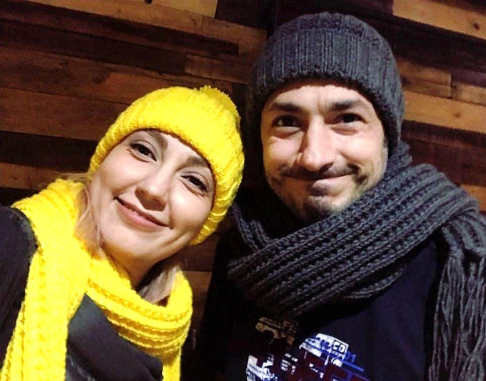 تیپ زمستونی جیغ حدیث میرامینی و همسرش+عکس