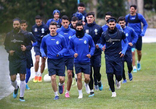 ناراحتی بازیکنان استقلال از غیبت زرینچه در تمرین امروز