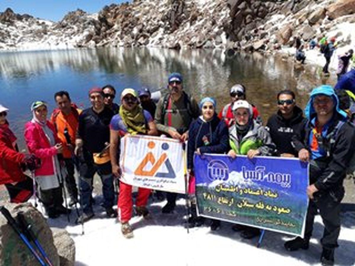 نماینده بیمه آسیا به قله سبلان صعود کرد