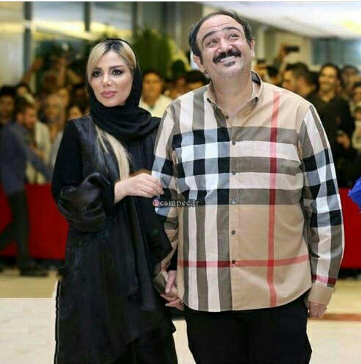 مهران غفوریان و همسرش در رستوران لاکچری + عکس