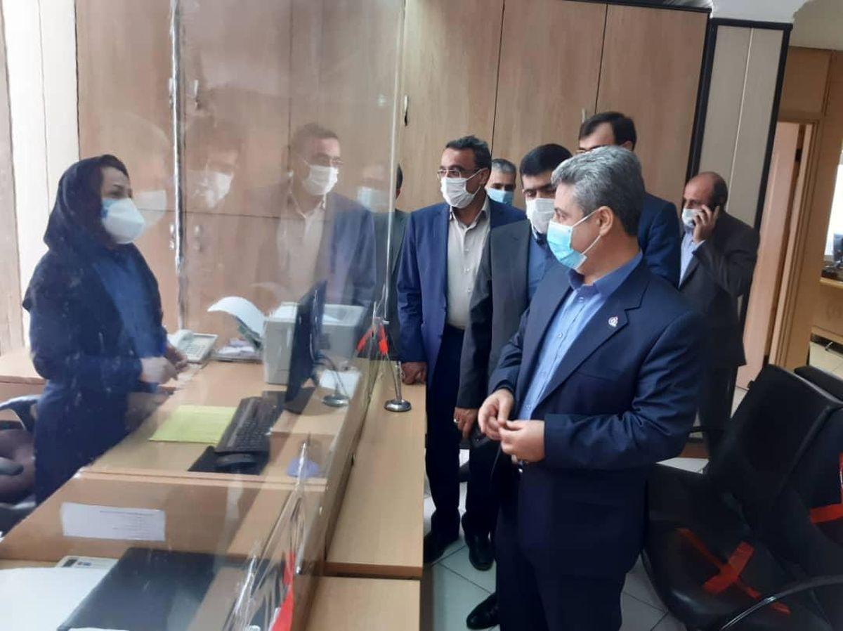 بازدید دکتر کاردگر و هیات همراه از شعبه آزادی و آبکوه مشهد