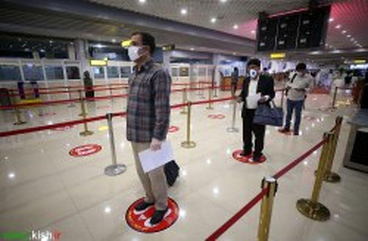 نظارت حداکثری بر رعایت پروتکل های بهداشتی در فرودگاه بین المللی کیش