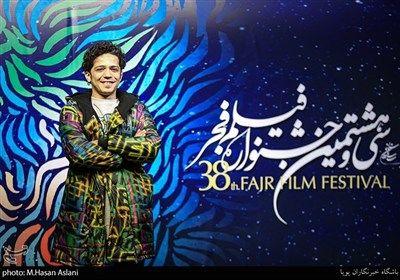 مجید نوروزی بازیگر در هفتمین روز سی و هشتمین جشنواره فیلم فجر در پردیس چارسو