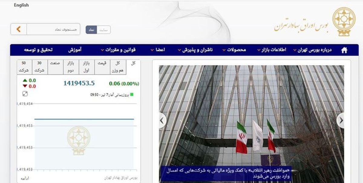 اختلال در سامانههای بورس تهران حل شد