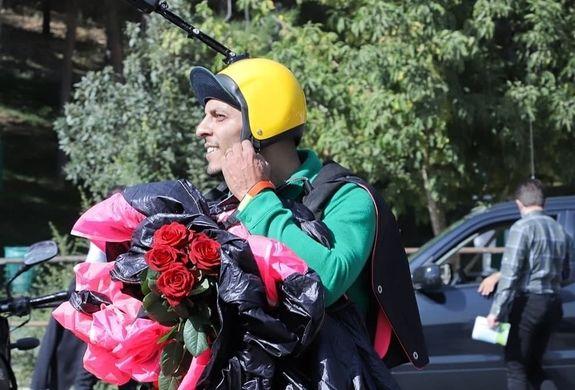 مراسم تشییع محمد بزرگی چترباز معروفی که در سالگرد پلاسکو درگذشت + عکس