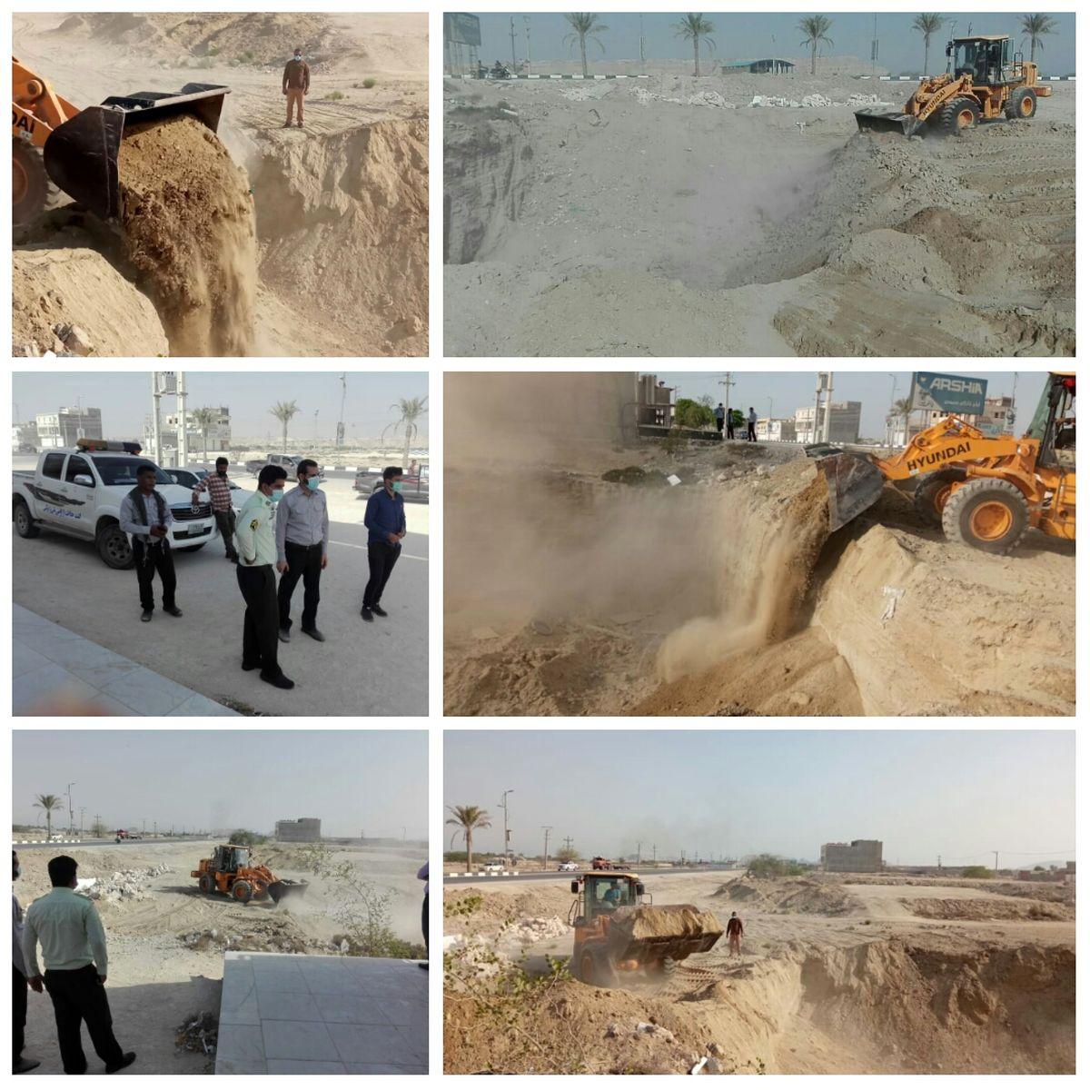 رفع تصرف 1200 مترمربع اراضی خالصه دولتی به ارزش میلیاردی در روستای گیاهدان قشم