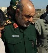 بازدید فرمانده کل سپاه از مناطق سیل زده بشاگرد