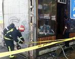 ساختمان پلاسکو در آتش سوخت + عکس