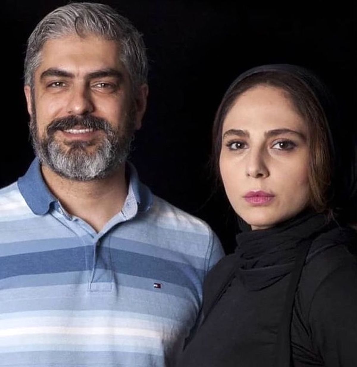 عکس دیده نشده از همسر دوم مهدی پاکدل در آغوش پدرش + عکس
