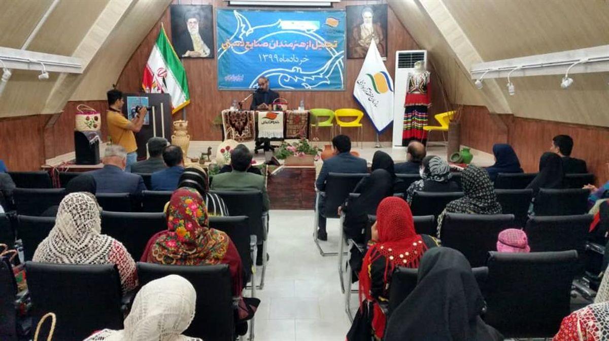 تجلیل از تولیدکنندگان برتر صنایع دستی در منطقه آزاد انزلی