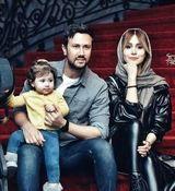 تیپ جنجالی شاهرخ استخری و همسرش در تولد دخترشان + عکس