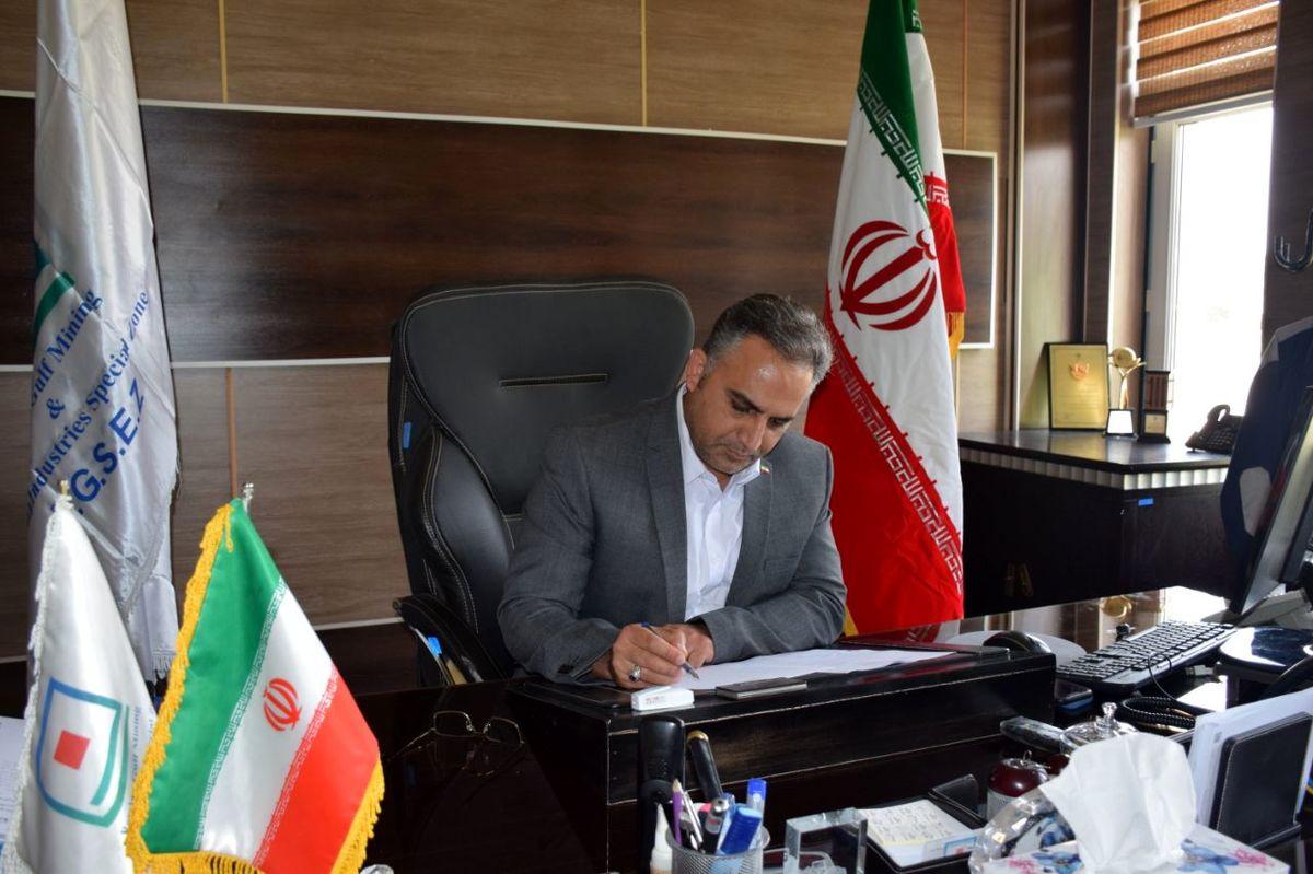 پیام تبریک دکتر خلج طهرانی به وزیر جدید صمت