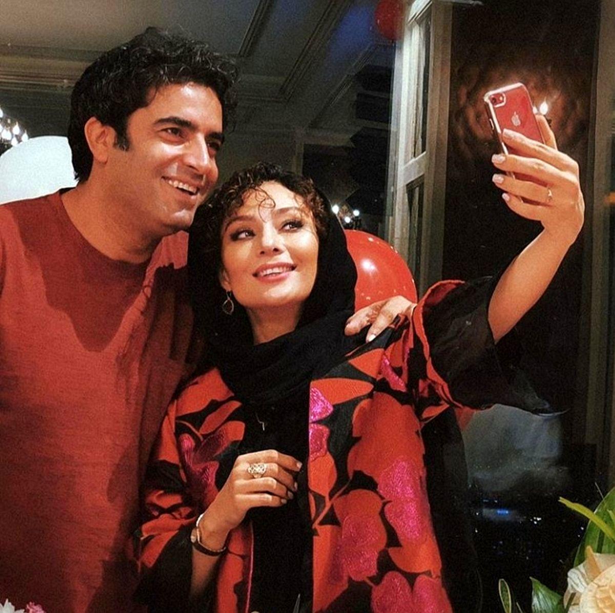 بوسیده شدن یکتا ناصر توسط همسرش جنجال ساز شد + عکس