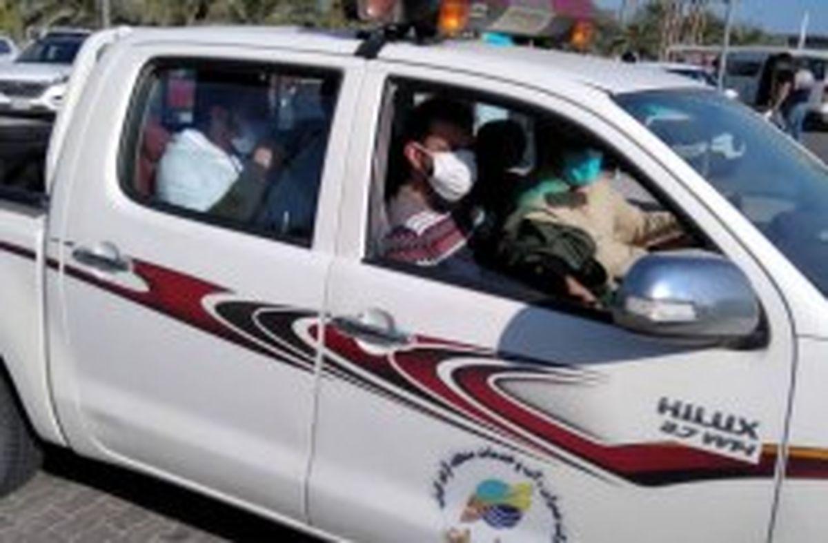 بسیج همگانی کارکنان شرکت عمران ، آب و خدمات کیش برای جبران کمبود تاکسی های شهری