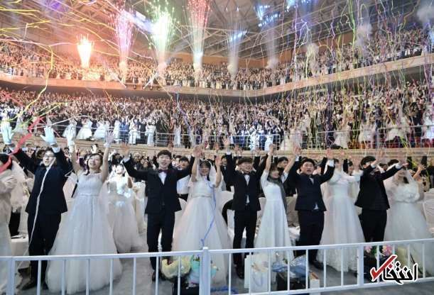 برگزاری عروسی دسته جمعی از ترس ویروس کرونا در هنگ کنگ