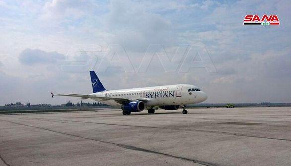 اولین پرواز از فرودگاه دمشق به فرودگاه حلب انجام شد