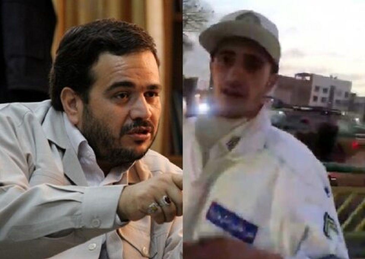 واکنش جنجالی نماینده مجلس که به پلیس راهور سیلی زد + عکس