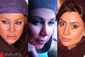 عکسهای جنجالی و لو رفته بازیگران زن ایرانی قبل از عمل زیبایی