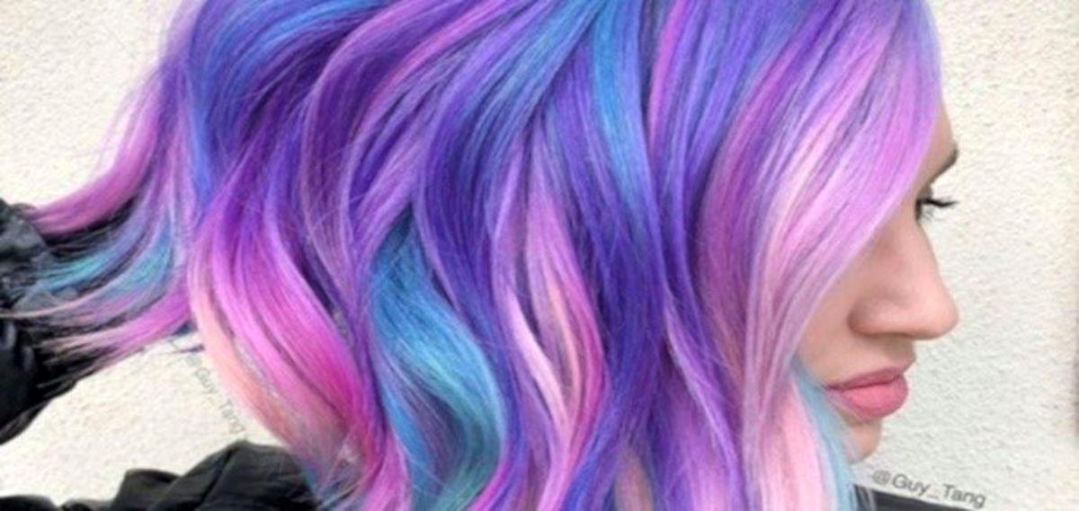 آخرین رنگ مو فانتزی دخترانه امسال برای پایین مو چیست؟
