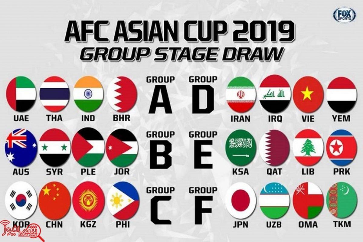 زمان شروع جام ملت های آسیا 2019