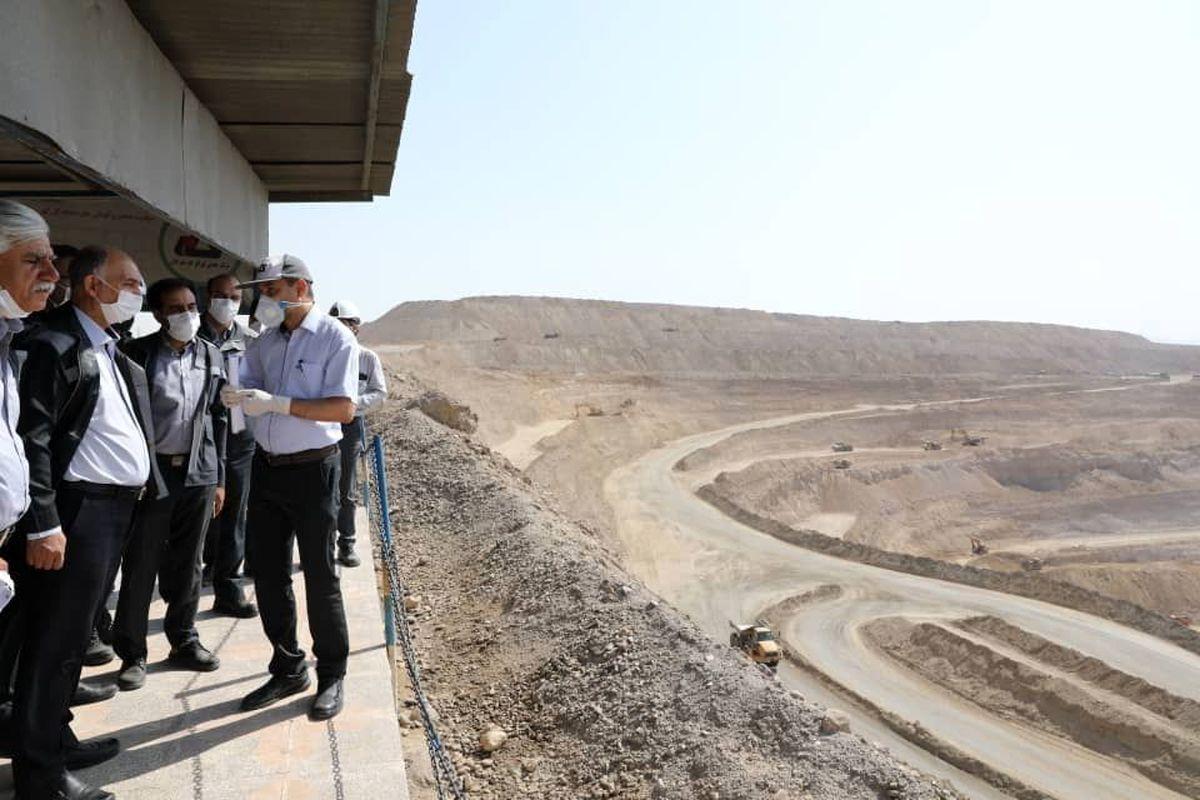 بازدید مهندس ملارحمان از عملیات معدن کاری شرکت گام