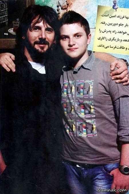 امین حیایی در کنار پسرش + عکس