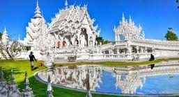 زیباترین معبد جهان در تایلند + تصاویر