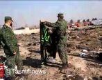 پرچم امام حسین(ع) در سقوط هواپیمای اوکراینی سالم ماند! + فیلم