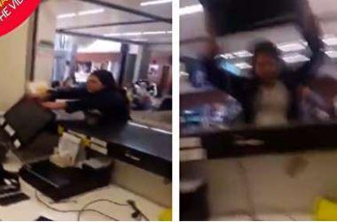 اتفاق عجیب در فرودگاه! +فیلم