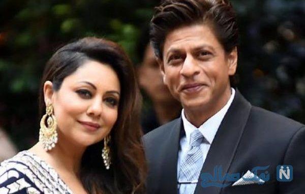 عکس های شاهرخ خان و همسرش | جشن تولد همسر شاهرخ خان ستاره بالیوود