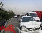 تصادف ۲ خودرو در بزرگراه آزادگان