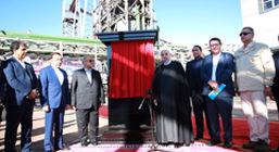 فاز نخست شرکت احیا استیل فولاد بافت با مشارکت بانک صنعت و معدن به بهره برداری رسید