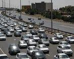 ترافیک نیمهسنگین در آزادراه تهران - قم