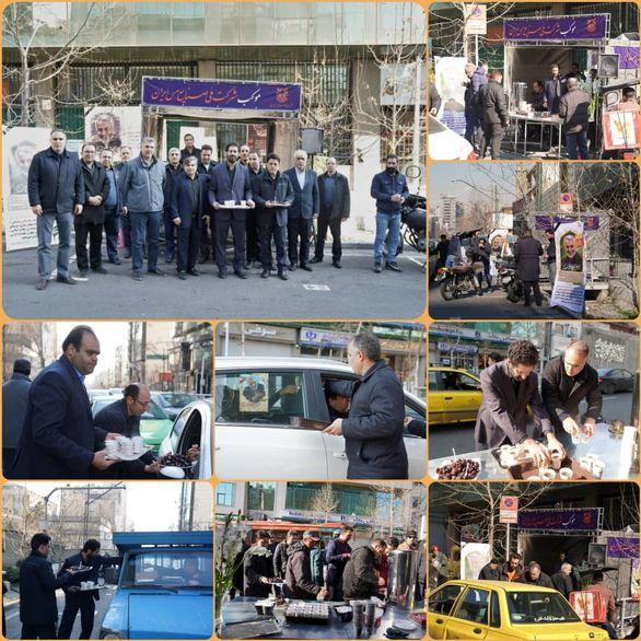موکب پذیرایی از عزاداران سپهبد شهید «حاج قاسم سلیمانی» در تهران برپا شد