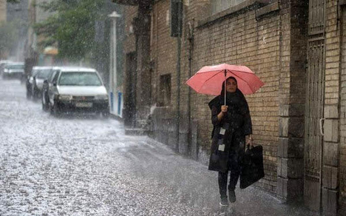 باد شدید و باران سه روزه در ایران