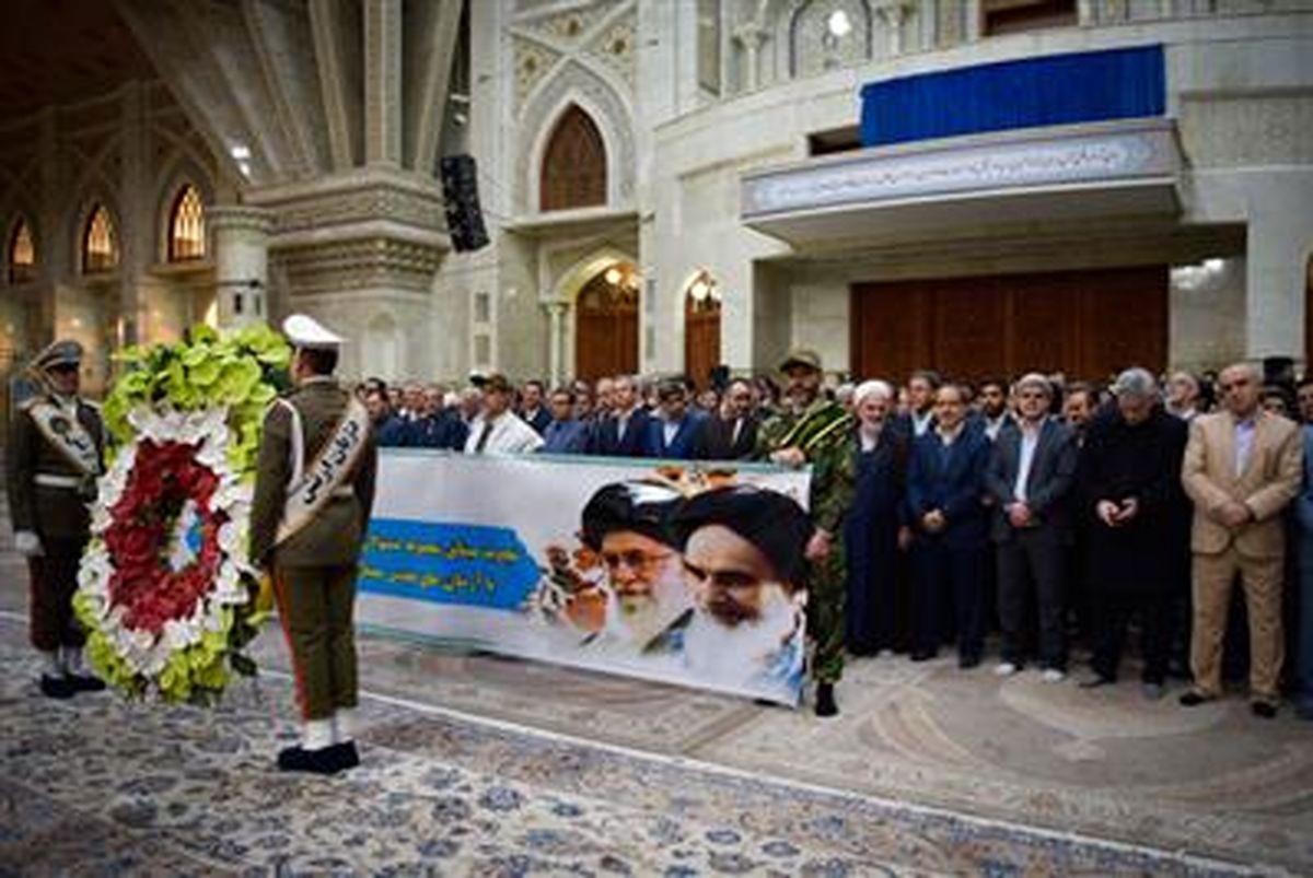 تجدید میثاق مدیران بانک مهر ایران با آرمان های انقلاب و امام راحل(ره)