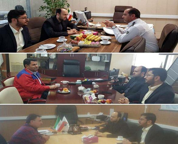برگزاری جلسات متعدد مدیر امور شعب و نمایندگان در منطقه آزاد ارس