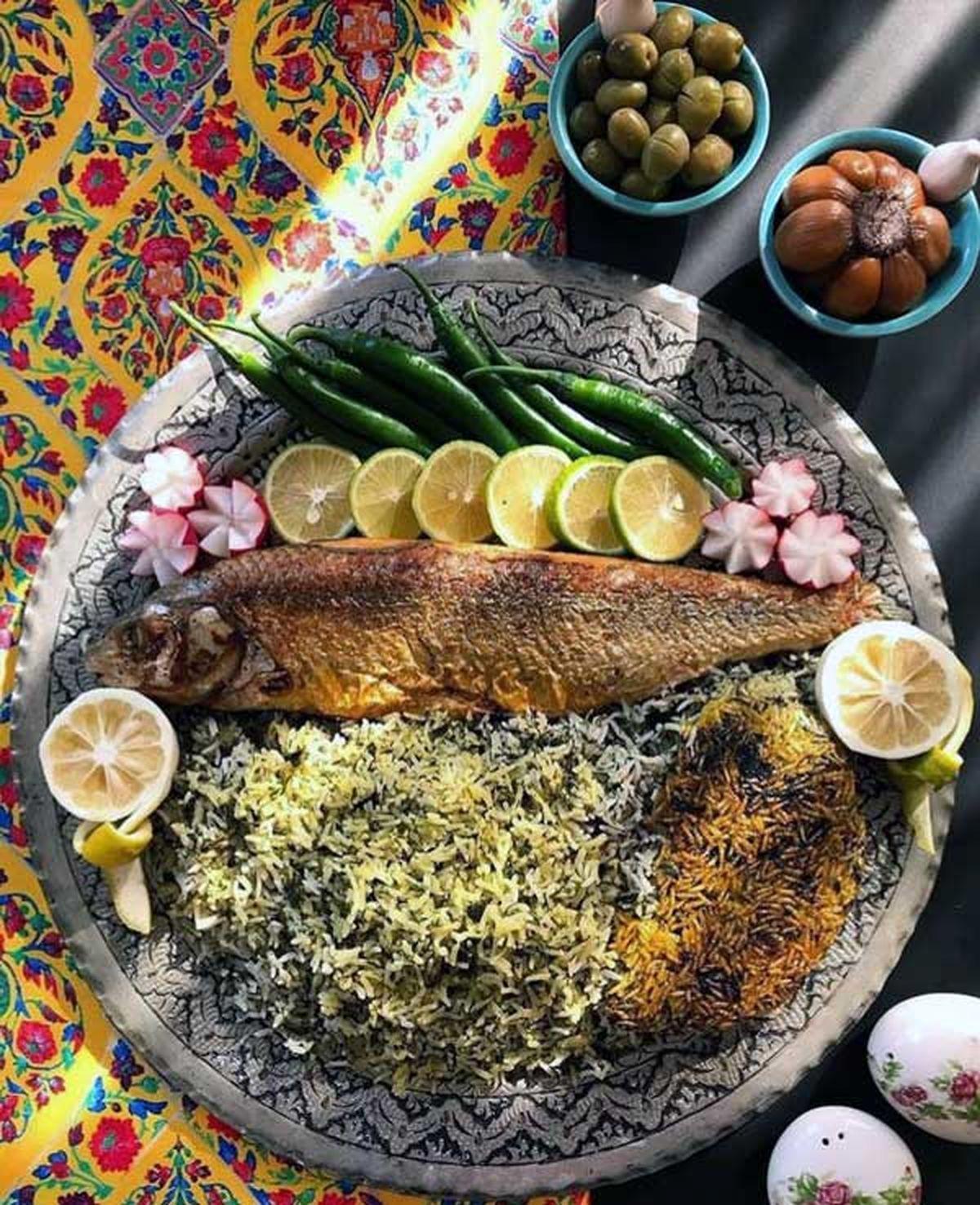 """طرز تهیه """"سبزی پلو با ماهی"""" شب عید اصیل ایرانی"""