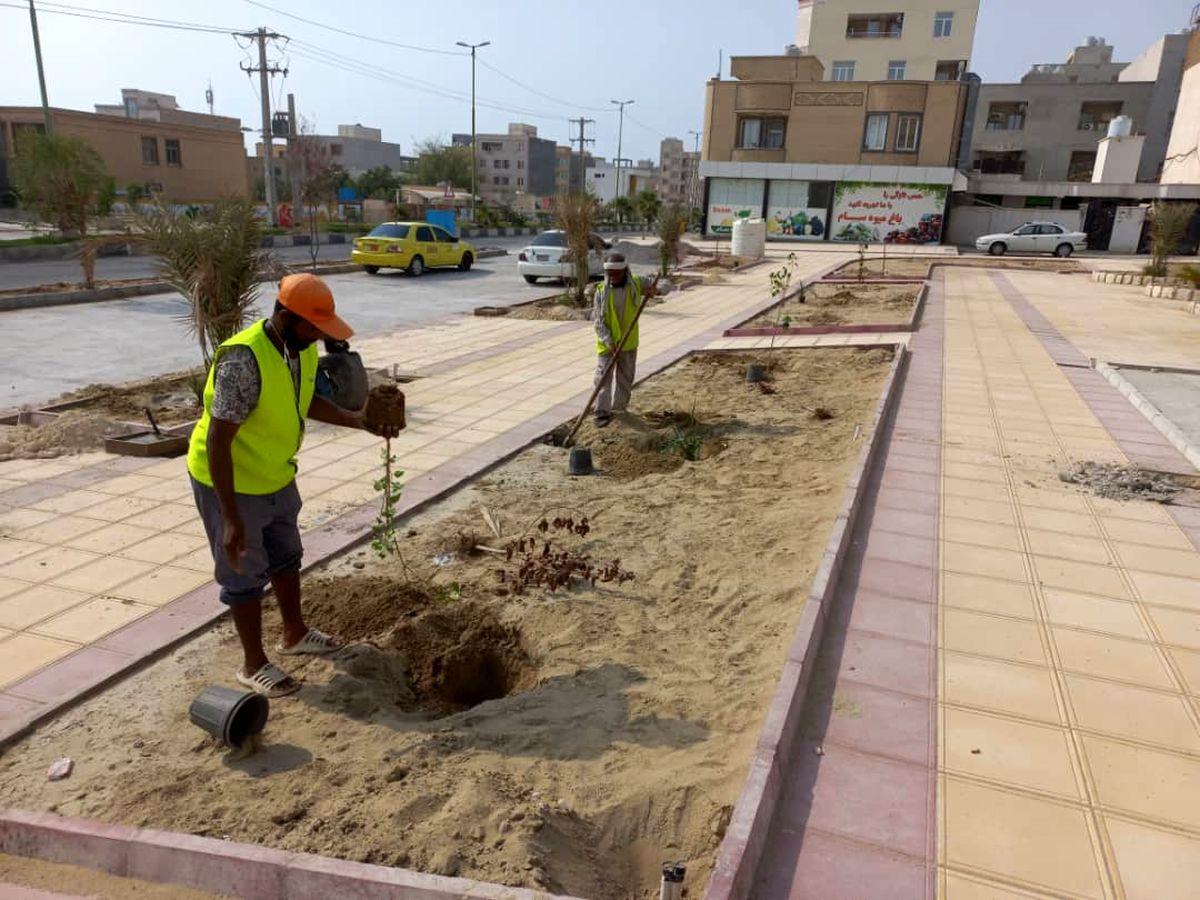 افزایش سرانه رفاهی در قشم با ساخت سه بوستان محلهای
