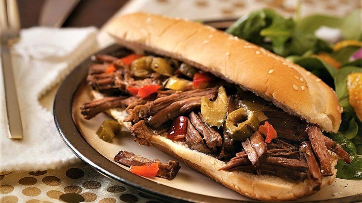 طرز تهیه ساندویچ ترکیبی گوشت ایتالیایی+ آموزش