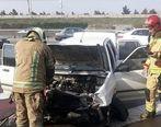 مصدومیت دو نفر در حادثه تصادف بزرگراه آزادگان