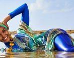 عکسهای حلیمه، شناگر زن خبرساز شد + عکس