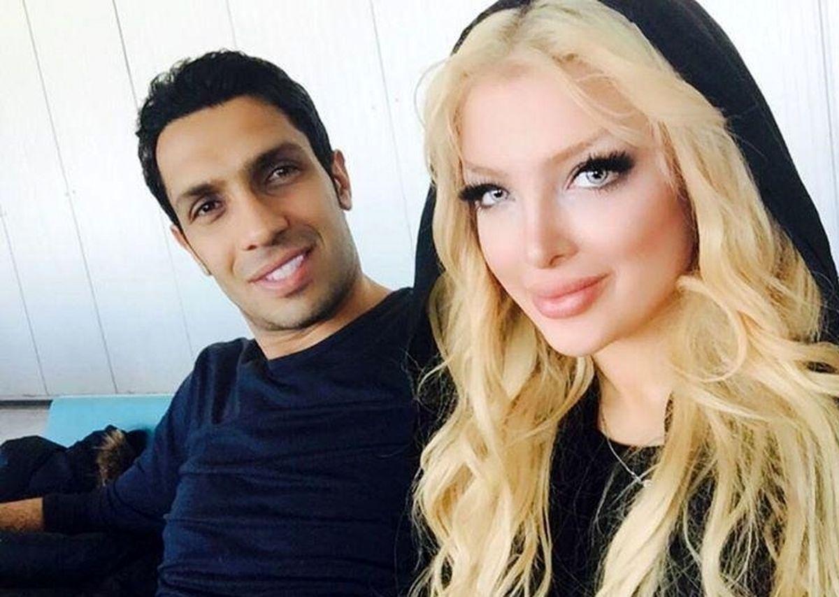 سپهر حیدری فوتبالیست معروف و همسرش + تصاویر