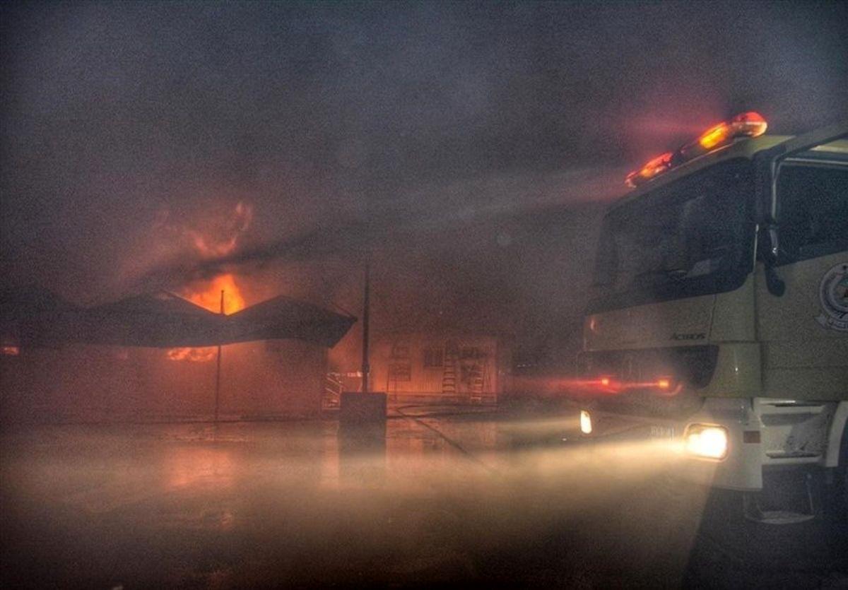 آتشسوزی و حریق مهیب در قطار سریعالسیر جده عربستان+عکس
