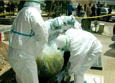 تصاویری از تدفین مبتلایان به کرونا در ایران لو رفت + عکس