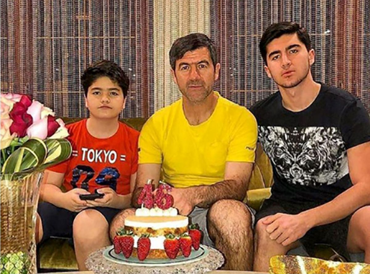 کریم باقری در جشن تولد پسرش + عکس