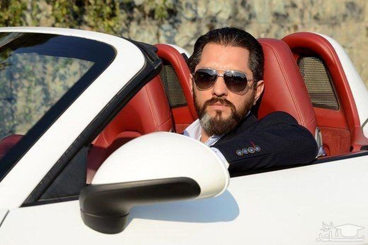 ماشین لاکچری بهرام رادان در خیابان های تهران   بهرام رادان در لباس دامادی